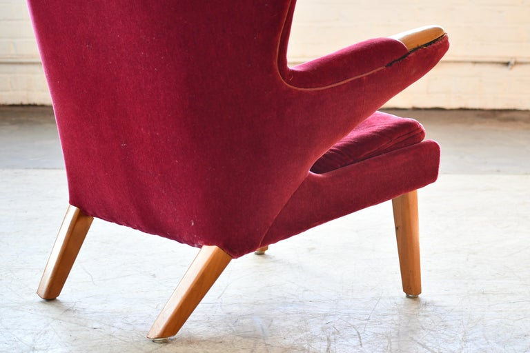 Mid-20th Century Scandinavian Modern Papa Bear High Back Lounge Chair, Sweden, 1950s For Sale