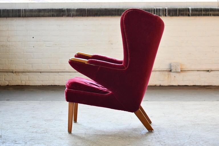 Scandinavian Modern Papa Bear High Back Lounge Chair, Sweden, 1950s For Sale 2