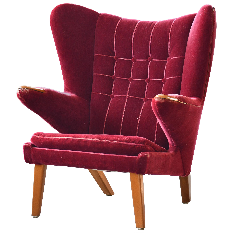 Scandinavian Modern Papa Bear High Back Lounge Chair, Sweden, 1950s
