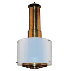 Scandinavian Modern Patinated Brass Lamps Plexi shades Danish Manufacture, 1960