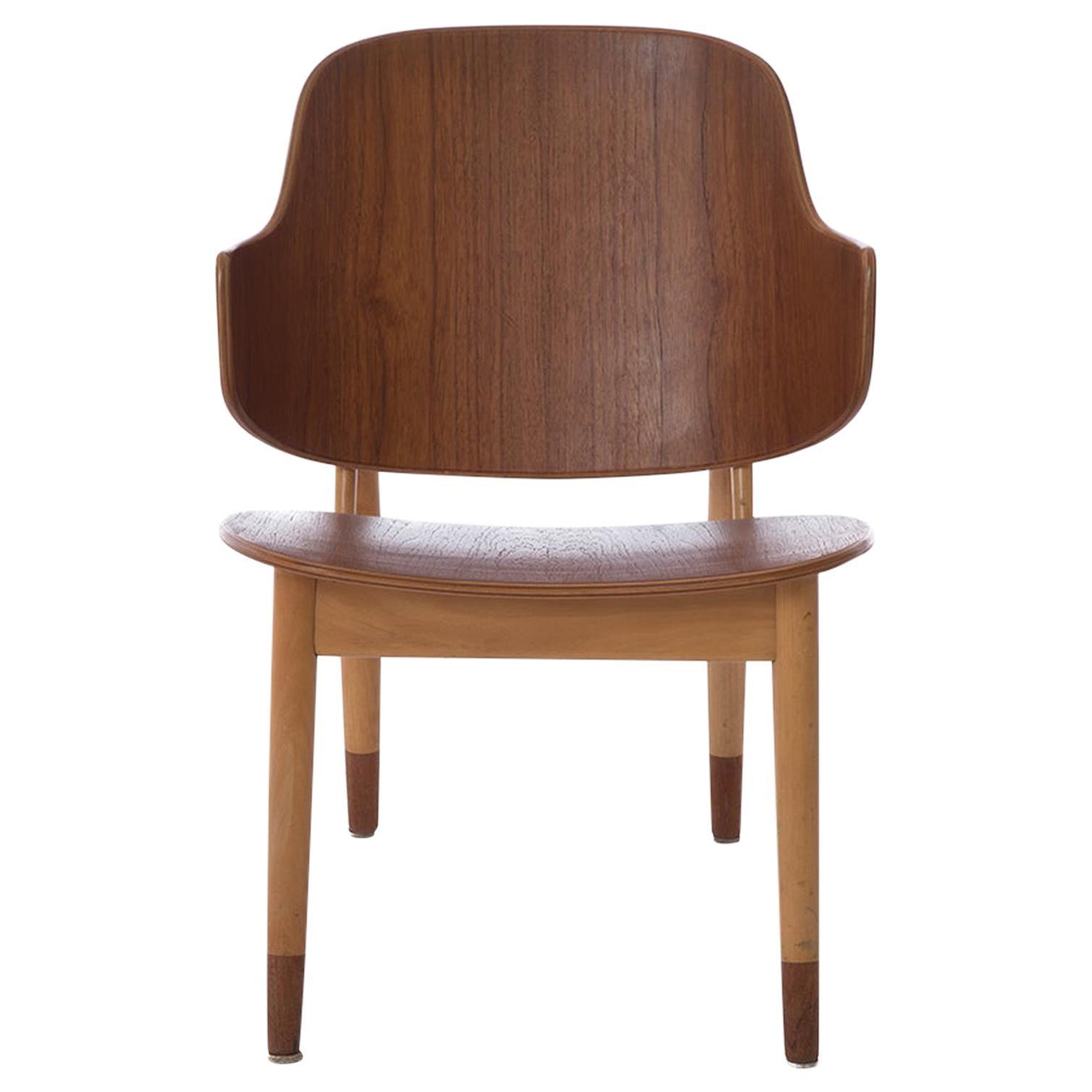 Scandinavian Modern Penguin Side Chairs