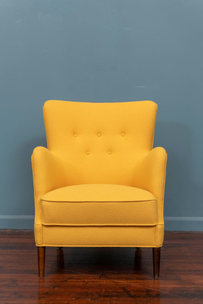 Danish Scandinavian Modern Petite Lounge Chair