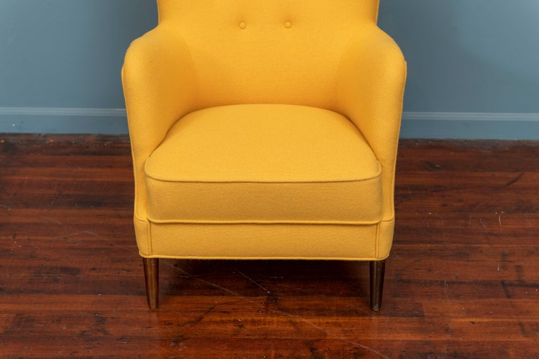 Scandinavian Modern Petite Lounge Chair In Good Condition In San Francisco, CA