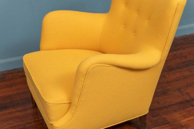 Wool Scandinavian Modern Petite Lounge Chair