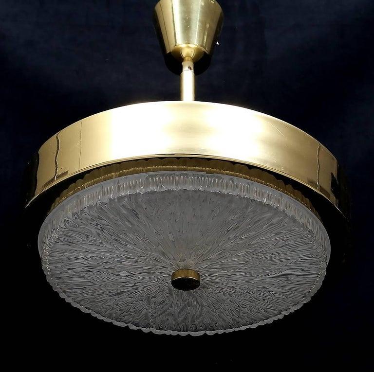 Swedish Scandinavian Modern Polished Brass Pendant by Boréns, Borås For Sale
