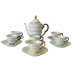 Scandinavian Modern Porcelain Coffee Espresso or Tea Demitasse Set