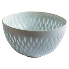 Scandinavian Modern Rice Grain Porcelain Bowl by Friedl Holzer-Kjellberg, Arabia