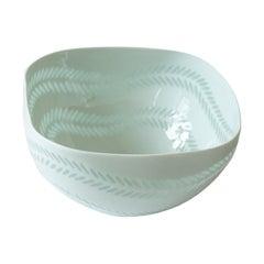 Scandinavian Modern Rice Grain Porcelain Bowl by Friedl Holzer-Kjellberg, Arabia