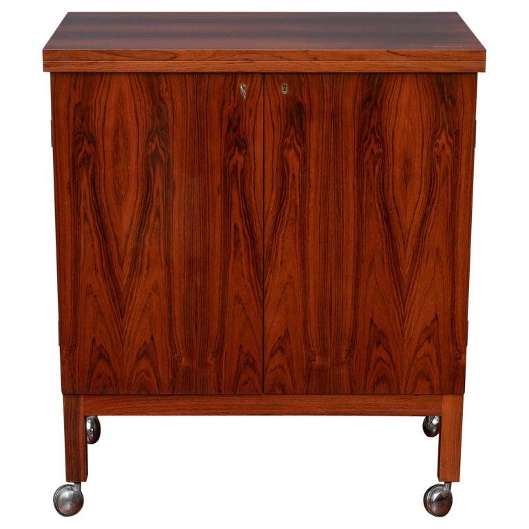 Scandinavian Modern Rosewood Bar Cabinet by Torbjorn Afdal for Bruskbo For Sale