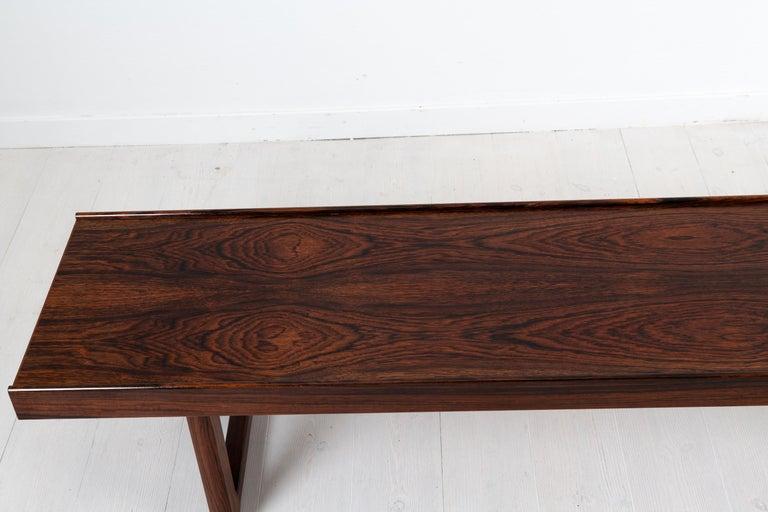 Scandinavian Modern Rosewood Bench by Torbjørn Afdal for Bruksbo For Sale 1