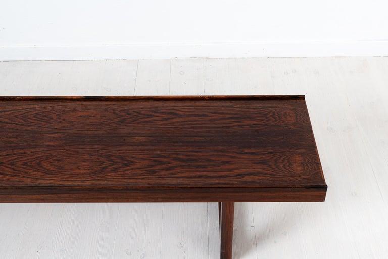 Scandinavian Modern Rosewood Bench by Torbjørn Afdal for Bruksbo For Sale 2