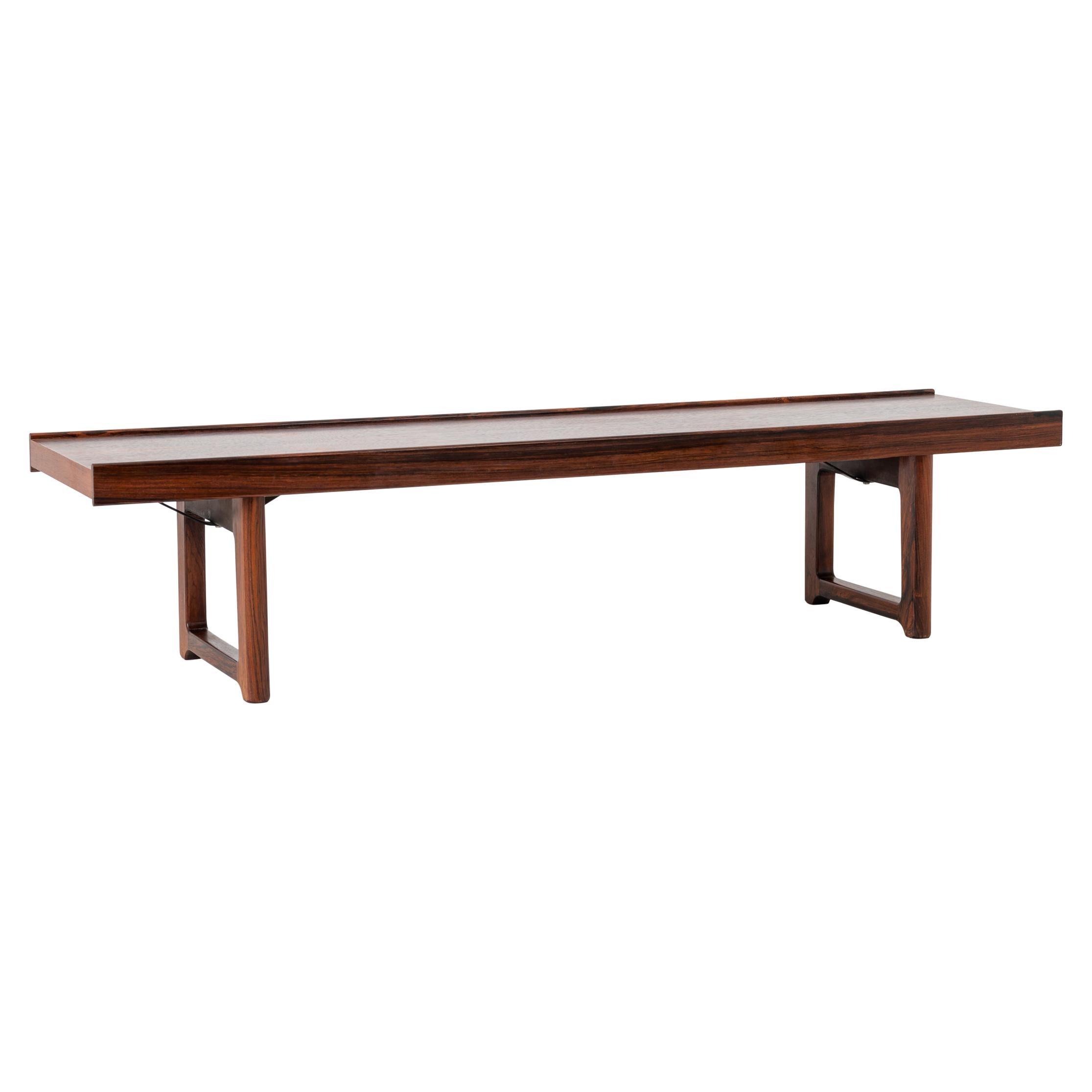 Scandinavian Modern Rosewood Bench by Torbjørn Afdal for Bruksbo