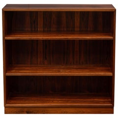 Scandinavian Modern Rosewood Bookcase by Willy Beck