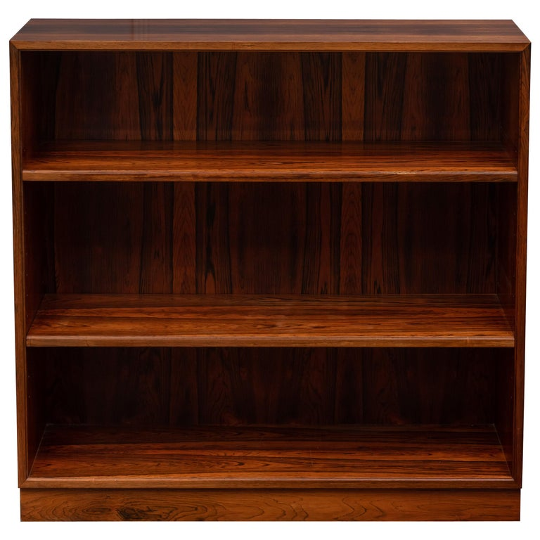 Scandinavian Modern Rosewood Bookcase by Willy Beck For Sale