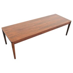 Scandinavian Modern Rosewood Coffee Table, Denmark, 1960