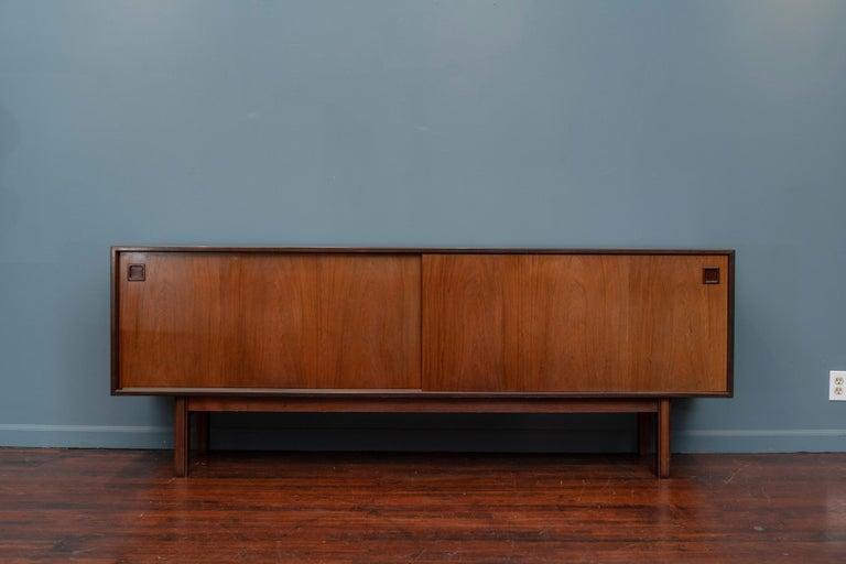 Scandinavian Modern rosewood credenza designed by Gunni Omann for Omann Jun, Model 21.