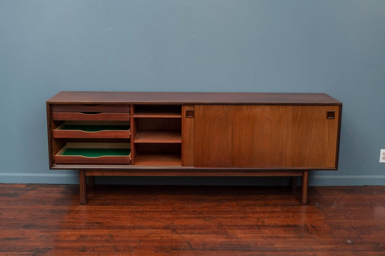 Scandinavian Modern Rosewood Credenza by Gunni Omann, Model 21 In Good Condition For Sale In San Francisco, CA