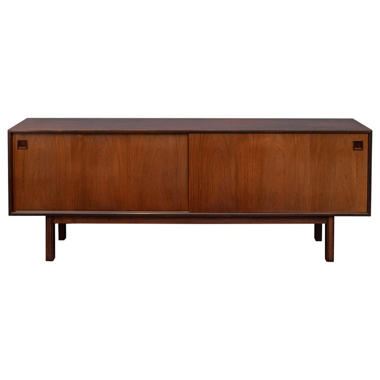 Scandinavian Modern Rosewood Credenza by Gunni Omann, Model 21 For Sale