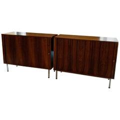 Scandinavian Modern Rosewood Credenza Cabinets By Marius Byrialsen For Nipu