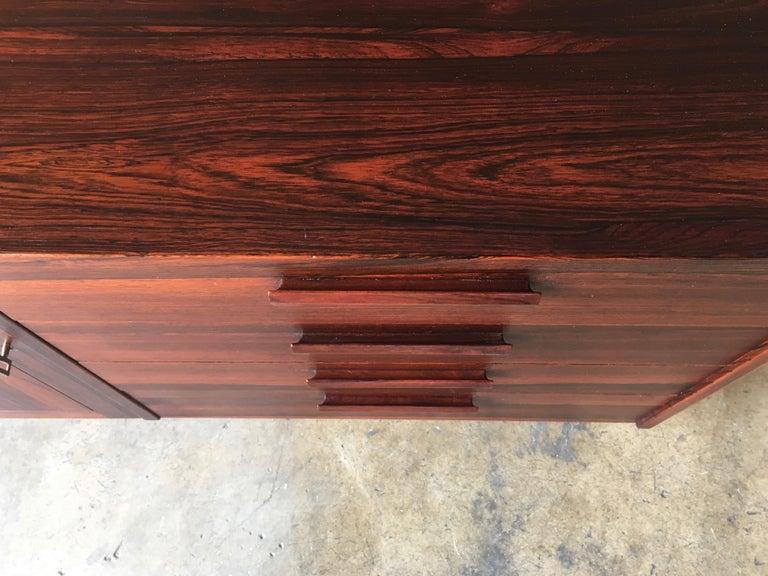 Scandinavian Modern Rosewood Credenza For Sale 5