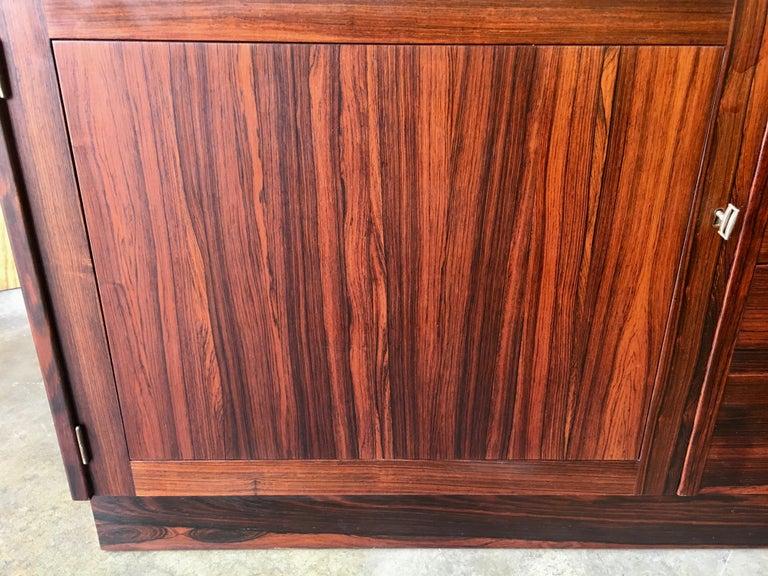 Scandinavian Modern Rosewood Credenza For Sale 6