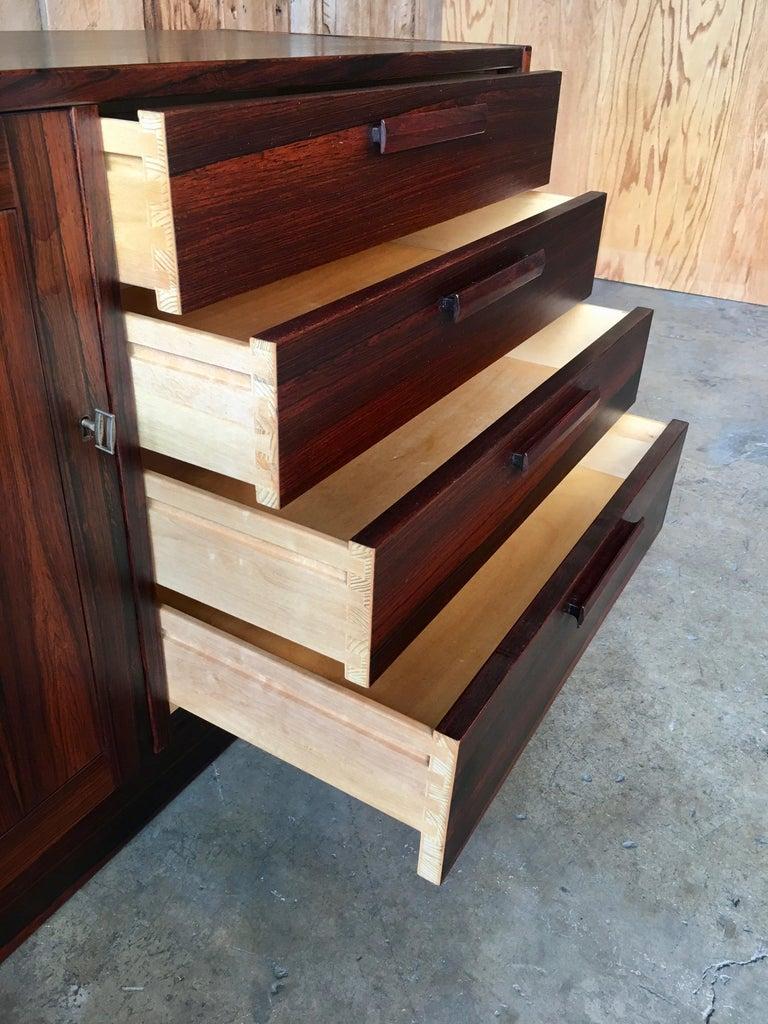 Scandinavian Modern Rosewood Credenza For Sale 8