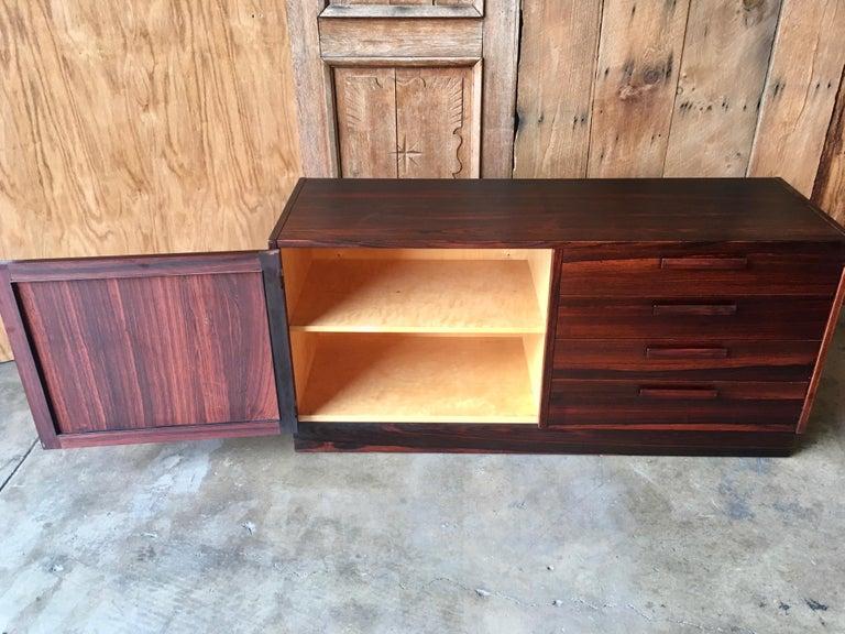 Scandinavian Modern Rosewood Credenza For Sale 13