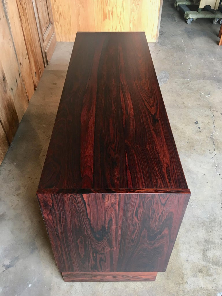 Scandinavian Modern Rosewood Credenza For Sale 1