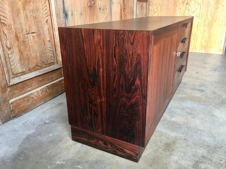 Scandinavian Modern Rosewood Credenza For Sale 2