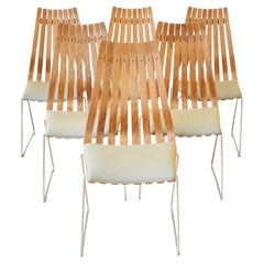 Scandinavian Modern Rosewood Dining Chairs by Hans Brattrud, Set of Six