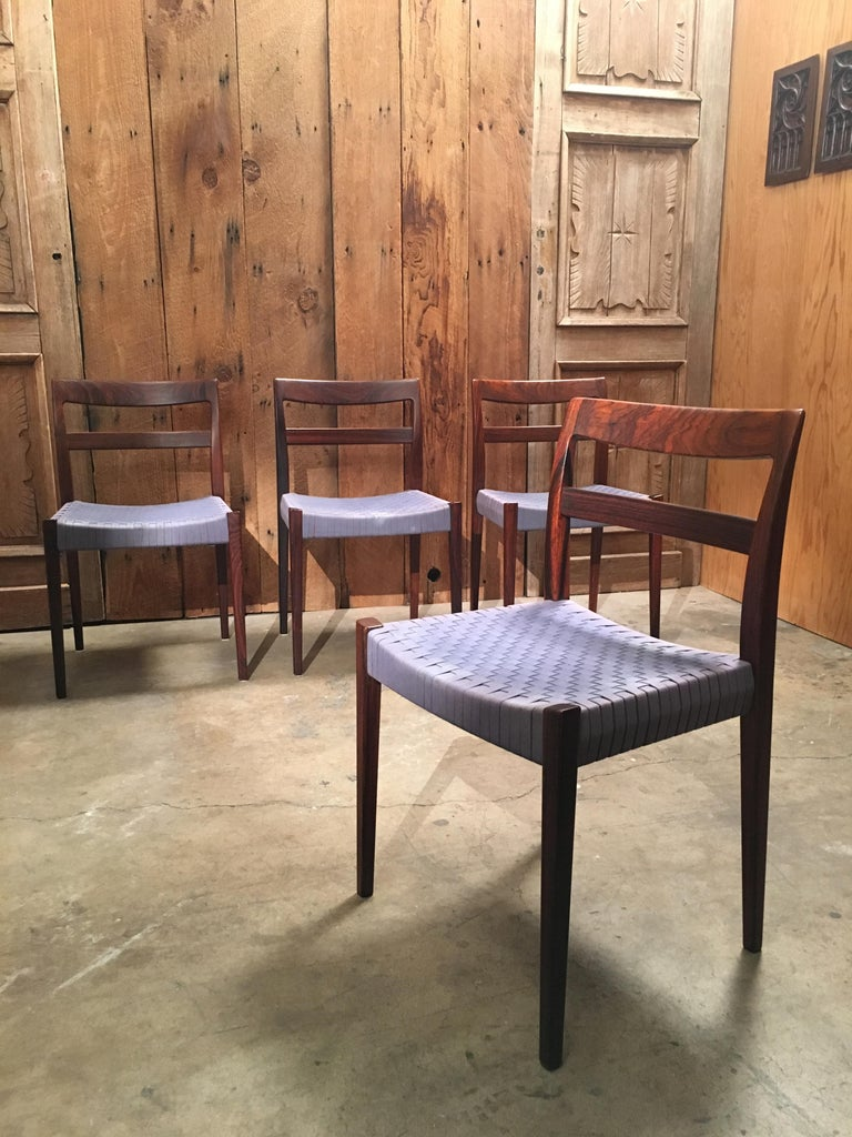 20th Century Scandinavian Modern Rosewood Dining Chairs For Sale