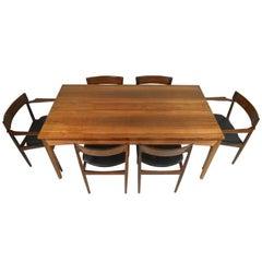 Scandinavian Modern Rosewood Dining Room Set by Henry Rosengren Hansen