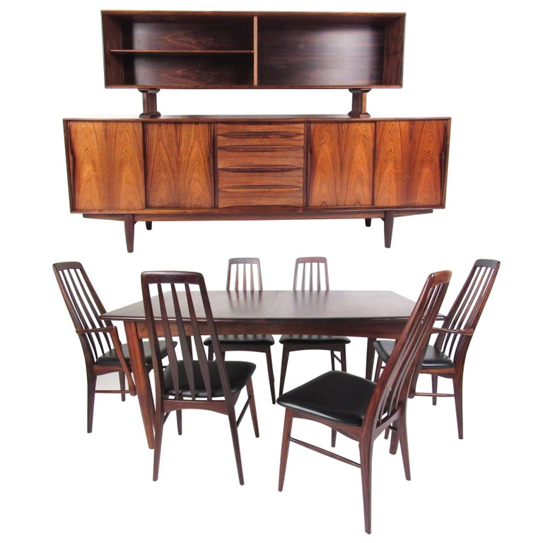 Scandinavian Modern Rosewood Dining Room Set For Sale At