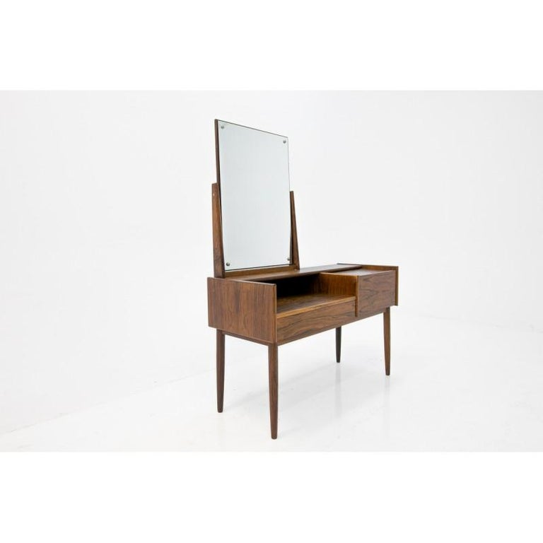 Unique Danish dressing table with original mirror.