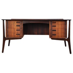 Scandinavian Modern Rosewood Executive Desk by Svend Åge Madsen for HP Hansen