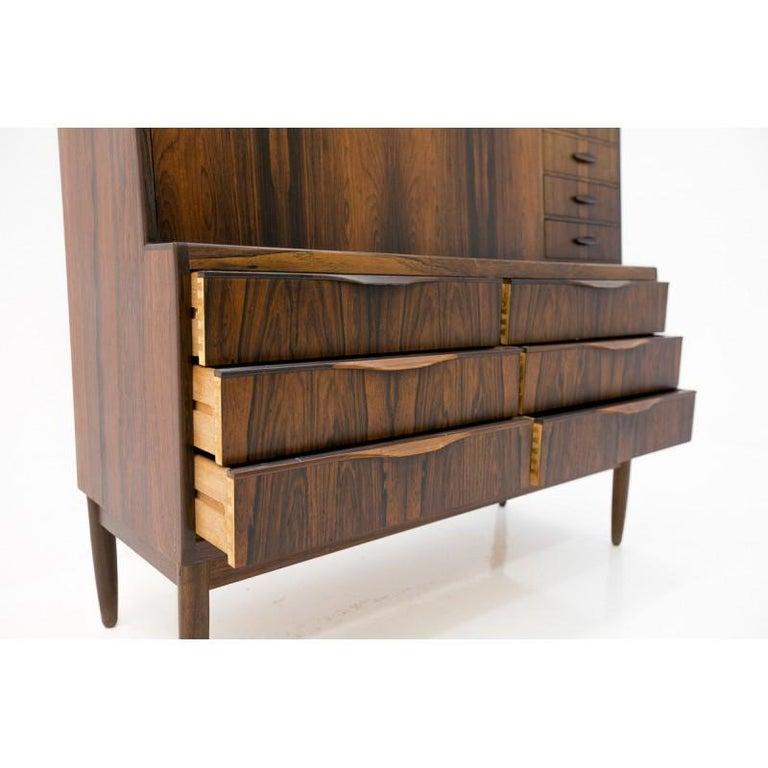 Scandinavian Modern Rosewood Secretary Desk by Ib Kofod-Larsen In Good Condition For Sale In Chorzów, PL