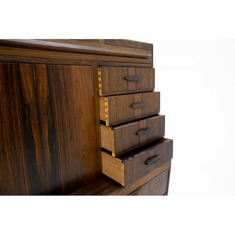 Scandinavian Modern Rosewood Secretary Desk by Ib Kofod-Larsen For Sale 1