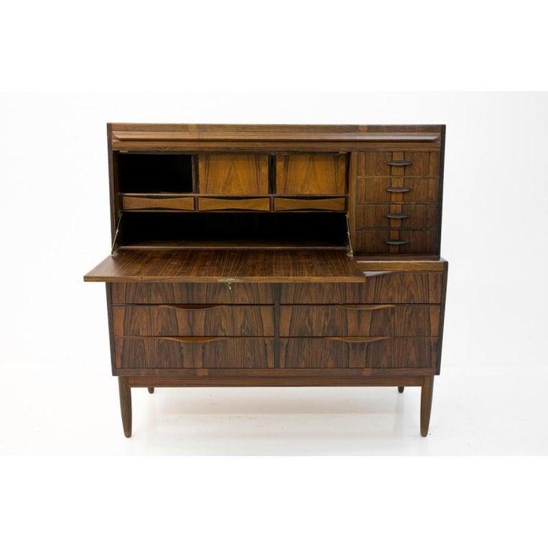 Scandinavian Modern Rosewood Secretary Desk by Ib Kofod-Larsen For Sale 2