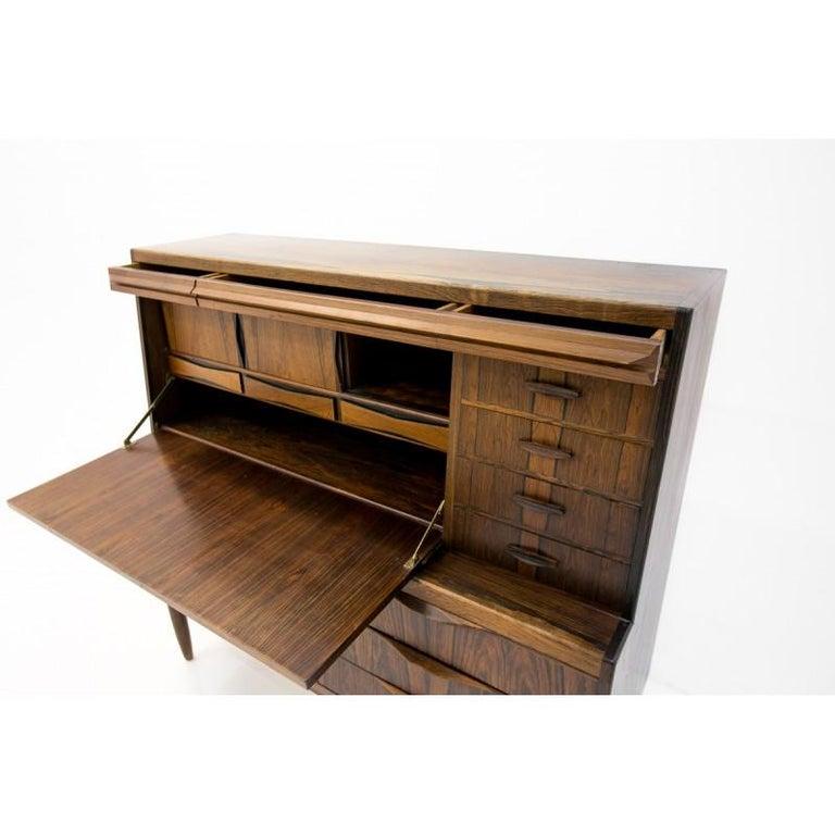 Scandinavian Modern Rosewood Secretary Desk by Ib Kofod-Larsen For Sale 3