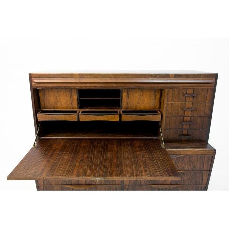Scandinavian Modern Rosewood Secretary Desk by Ib Kofod-Larsen For Sale 4