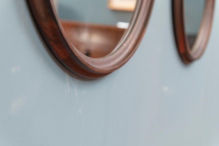 Danish Scandinavian Modern Rosewood Wall Mirrors For Sale