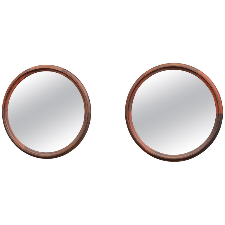 Scandinavian Modern Rosewood Wall Mirrors For Sale