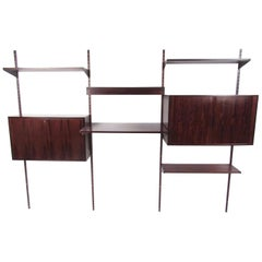 Scandinavian Modern Rosewood Wall Unit in the Style of Kai Kristiansen