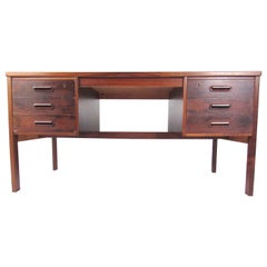 Scandinavian Modern Rosewood Writing Desk