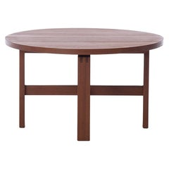 Scandinavian Modern Round Coffee or Occasional Table in Solid Teak