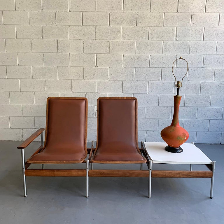 Scandinavian Modern Seating and Table Ensemble by Sven Ivar Dysthe In Good Condition For Sale In Brooklyn, NY