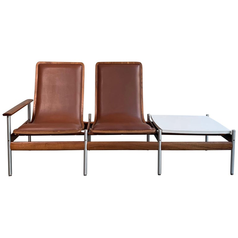 Scandinavian Modern Seating and Table Ensemble by Sven Ivar Dysthe For Sale