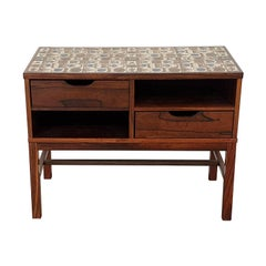 Scandinavian Modern Severin Hansen and Royal Copenhagen Tiled Hall Dresser