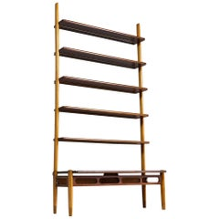 Scandinavian Modern Shelving Unit in Teak and Oak by William Watting, 1960s