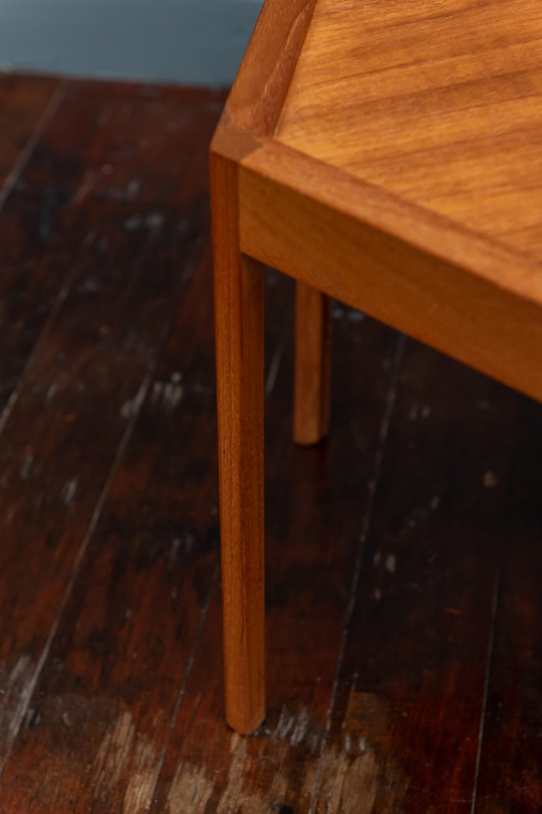 Teak Scandinavian Modern Side Table by Hans Andersen For Sale